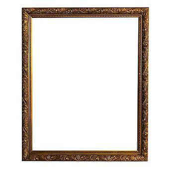 الأبعاد الداخلية 40x50 سم أو 16x20 بوصة، إطار خشبي ذهبي