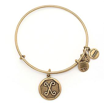 Alex and Ani Initial X Gold Bangle A13EB14XG