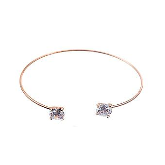 Intrige dames/dames ronde Cubic Zirconia Bangle