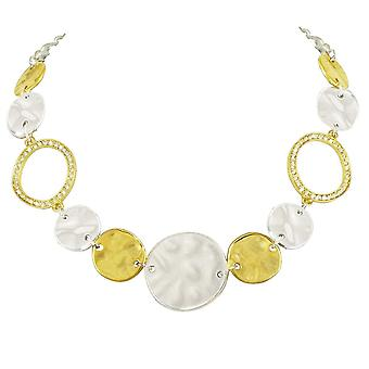 Eternal Collection Granada Clear Crystal Two Tone Fashion Necklace