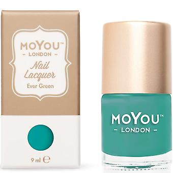 MoYou London Stamping Nail Lacquer - Ever Green 9ml (MN034)