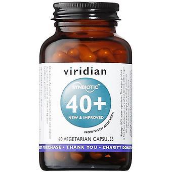 Viridian Synbiotic 40+ Veg Caps 60 (462)