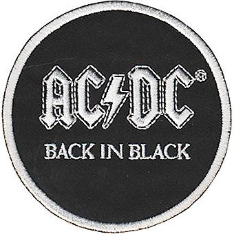 Patch - AC/DC Back in Black Iron-On New Gifts Toys p-4527