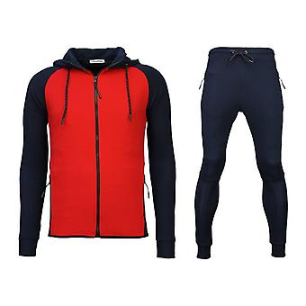 Tracksuits Windrunner Basic Ribbed-Blue/Red
