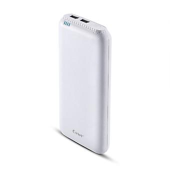 Power Bank CAGER 20000mAh extreem krachtige Dual USB wit