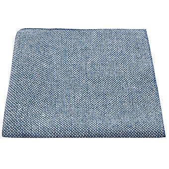 Highland Weave Stonewashed Blue Pocket Square, Handkerchief