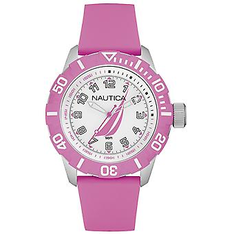 Nautica nsr-100 j-class Quartz Analog Woman Watch with NAI08514G Rubber Bracelet