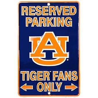 Auburn Tigers NCAA fans apenas reservados sinal de estacionamento