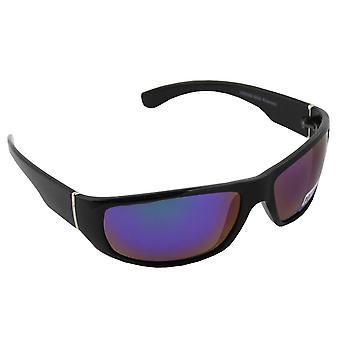 Óculos de Sol Homens Polaroid Sport - Preto/Azul/Roxo com brillenkokerS333_3 grátis