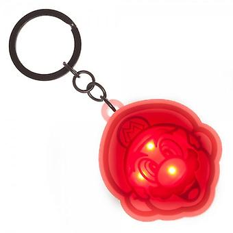 Super Mario Light Up Logo Keychain