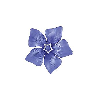 Eternal Collection periwinkle blå emalje sølv tone Flower brosje