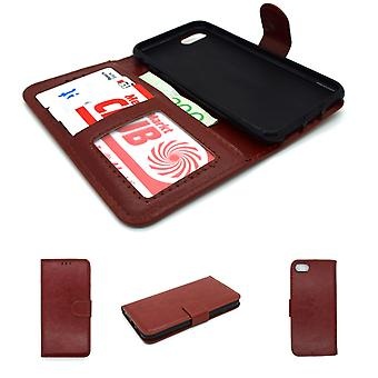 IPhone 6 / 6S wallet case protection sky case brown