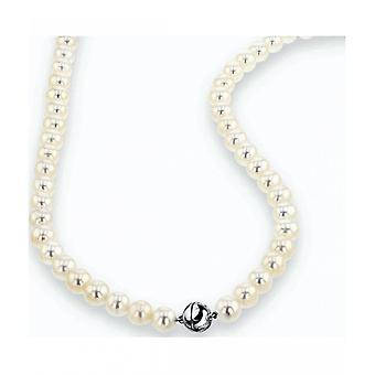 Luna-Pearls Pearl Collier Freshwater Pearls 7.5-8 mm 925 Silver Rhodiumplated 2035950