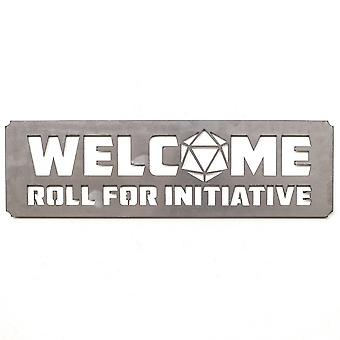Welcome roll for initiative - metal cut sign 28x9in