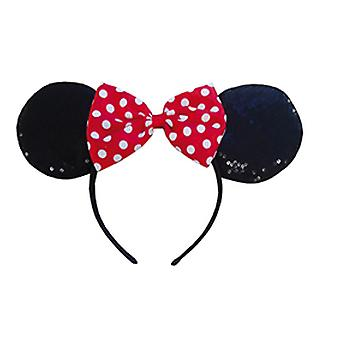Minnie mouse red sequin glitter headband for children