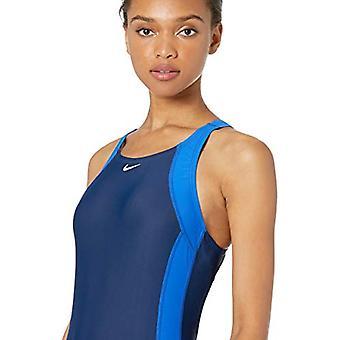 نايكي السباحة النساء & s سريع العودة قطعة واحدة ملابس السباحة، لعبة الملكي / منتصف الليل البحرية، 36