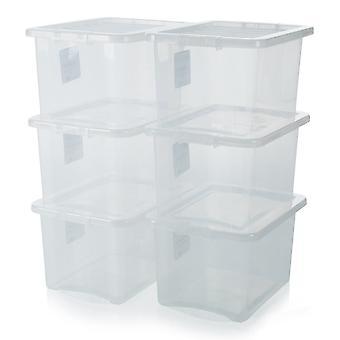 Wham Storage Pallet Deal X 320 - 24 Litre Crystal Plastic Storage Boxes With Lids