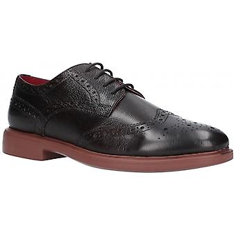 Lambretta Spencer Mens Leather Brogue Shoes Dark Brown