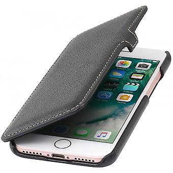 Case For iPhone 8 / IPhone 7 Book Type Black In True Leather
