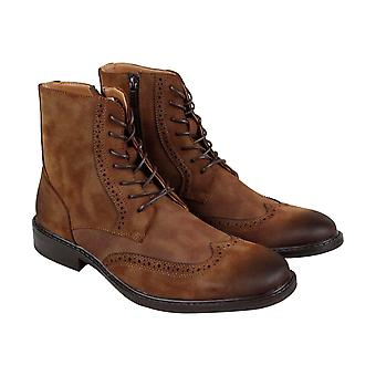 Unlisted by Kenneth Cole Buzzer Boot Mens Brown Leather Casual Dress Boots Shoes