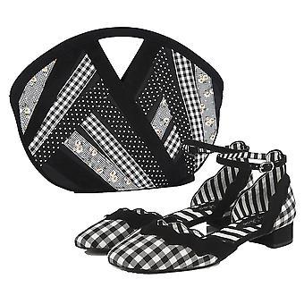 Ruby Shoo Frauen's Lydia Low Block Ferse Schuhe & passende Dallas Tasche