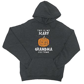 Questo è il mio spaventoso nipote costume zucca Halloween Unisex Cool Grigio Pullover Hoodie
