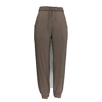 Anybody Women's Pants Cozy Knit Ruffle Brown A353768