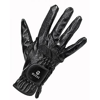 Busse Gloss Adult Horse Riding Gloves - Black