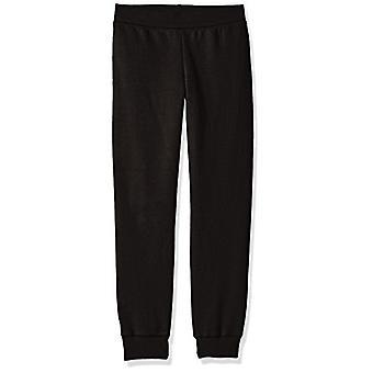 Hanes Big Girls' Comfortsoft Ecosmart Fleece Jogger Pants,, Black, Size Large