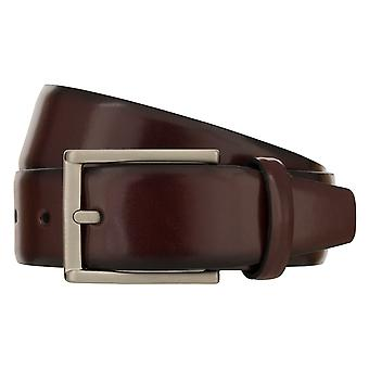 MONTI LONDON Belt Men's Belt Leather Belt Bordeaux 8484
