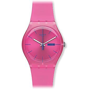 Swatch SUOP700 Femminile Plastica Rosa 0MM Quartz Orologio Analogico