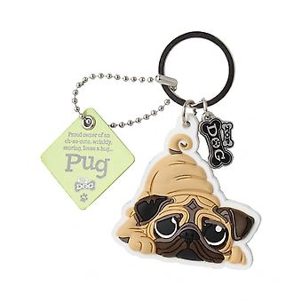 Wags & Whiskers Pug Keyring