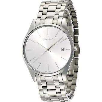 Calvin Klein Mens Quartz Analog Watch with stainless steel band K4N21146