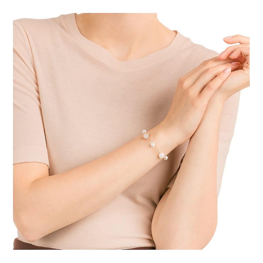 Swarovski Remix Rose Gold Tone Plated & White Pearl Bracelet