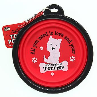 Wags & Whiskers Travel Pet Bowl - West Highland Terrier