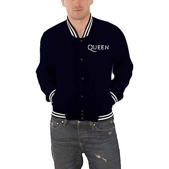 Queen Jacket classic band logo Crest new Official Mens Blue Varsity
