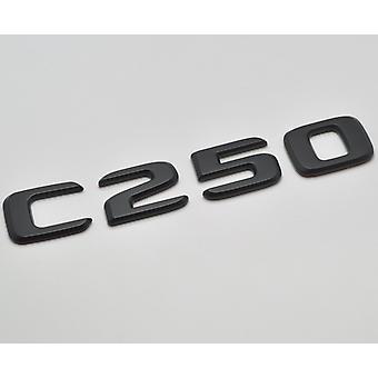 Matt Black C250 Flat Mercedes Benz Car Model Rear Boot Number Letter Sticker Decal Badge Emblem For C Class W202 W203 W204 W205 AMG