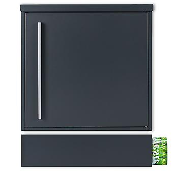 MOCAVI Box 101r 7016 ZF 1 7016 Brievenbusantraciet-grijs (RAL 7016) met krantencompartiment kan apart worden geïnstalleerd