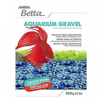Marina Marina Betta Gravel Tri Blue Tone 500G (Vissen , Decoratie , Bodem)