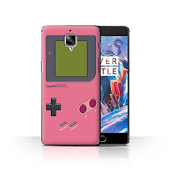 STUFF4 Case/Cover for OnePlus 3/3T/Pink/Video Gamer/Gameboy