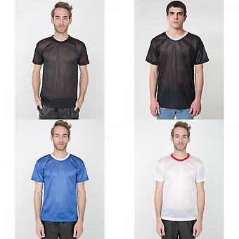 Amerikan Giyim Unisex Hafif Kısa Kollu Örgü T-Shirt