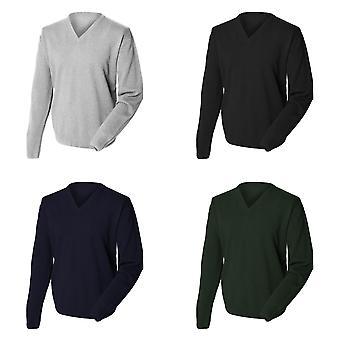 Henbury Mens Lambswool Woolmark® v-hals trui / sweater