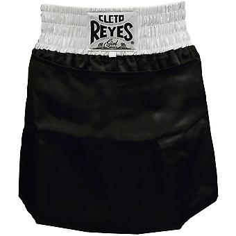 Cleto Reyes Women's Satin Boxing Skirt Trunks - Black/White