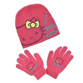 Hello kitty girls hat and gloves set