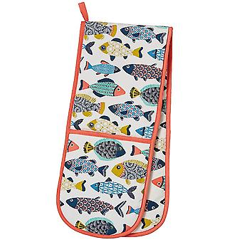 Kitchen Accessories Aquarium Apron, Double Oven Glove, Mitt , Tea Towel & Reusable Shopping Bag