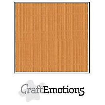 CraftEmotions linnen karton 10 Sh toffee LHC-91 A4 250gr