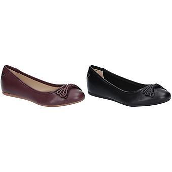 Hush Puppies Womens/dames Heather Bow cuir chaussures de Ballet