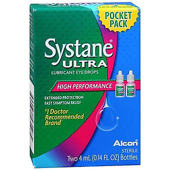 Systane ultra lubricant eye drops, high performance, 2 x 4 ml