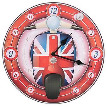 Wall Clock English Scooter