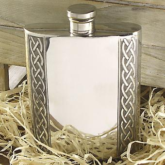 6oz Embossed Celtic Band Flask